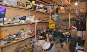 Rashad's garage, where ammunition and explosives were found.