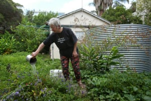 Keelah Lam of Fairlight waters her garden from her 22,000 litre rainwater tank, which was installed in November 2005.
