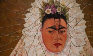 Self-Portrait As a Tehuana (detail) by Frida Kahlo.
