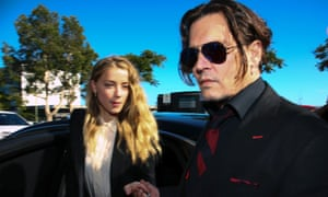 Johnny Depp and Amber Heard arrive at a court in Australia in 2016 over the alleged illegal importation of their two dogs.