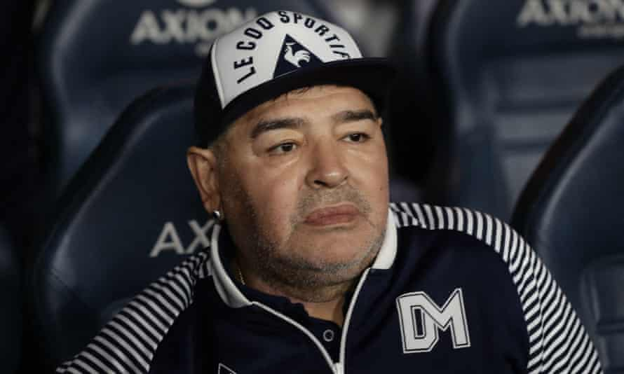 Diego Maradona pictured in March 2020