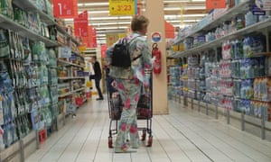 France wastes 7m tonnes of food annually. Supermarket chain Carrefour, above, agreed the law would help increase food donations.
