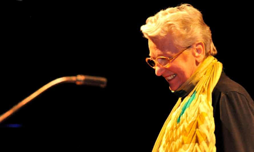 Éliane Radigue in concert in 2011.