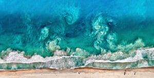 Waves at beaches in Perth, Australia