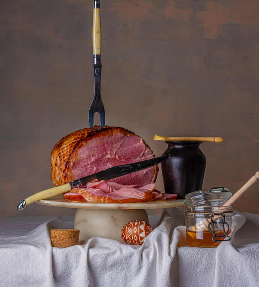 Honey-roasted ham