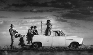 Robert Webb with his four sons and their 1959 Holden ute