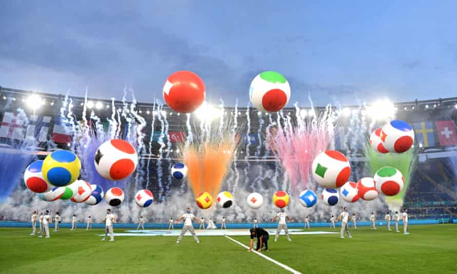 The Euro 2020 opening ceremony in Rome