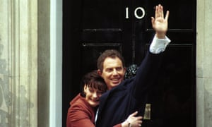 Cherie Blair with her husband Tony as they moved into Downing Street in May 1997.