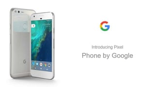 Promotional image for the new Pixel Phone by Google