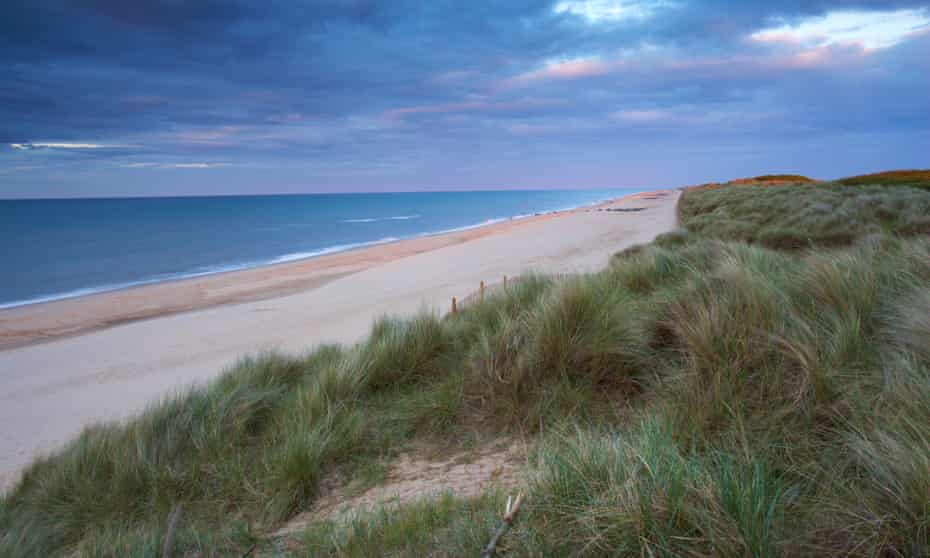 Dusk at Waxham beach on the Norfolk coast.
