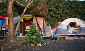 A Christmas tree at Brandie Osborne's camp