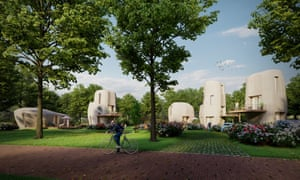 In the city of Eindhoven (The Netherlands) five 3D-printed concrete houses will be built. The project is the world's first commercial housing project based on 3D-concrete printing.