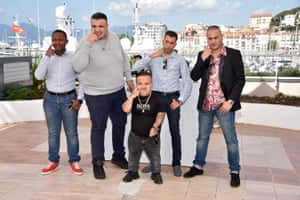 Actors Foziwa Mohamed, Foued Nabba, Tony Fourmann, Zine Darar and Oussama Abdul Aal attend the Chouf photocall