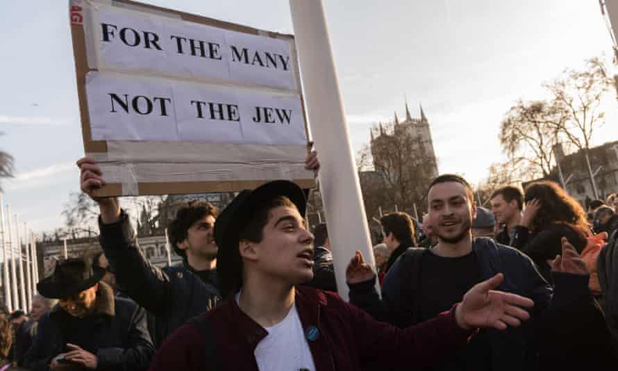 The Jewish Leadership Council and the Board of Deputies of British Jews stage a protest in Parliament Square