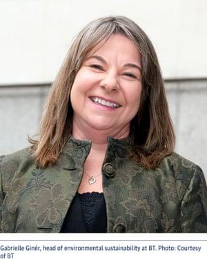 Gabrielle Ginér, head of environmental sustainability at BT