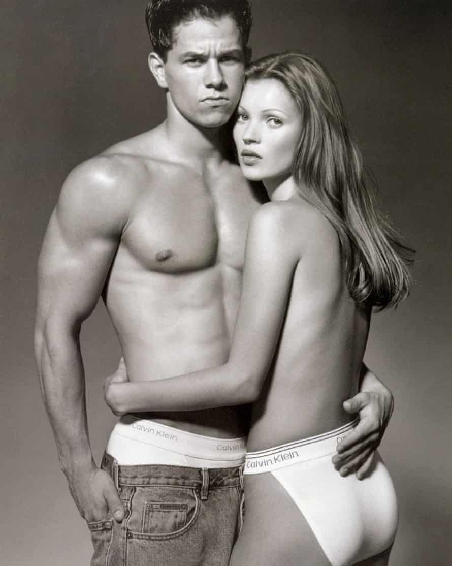 Mark Wahlberg and Kate Moss in 1992.