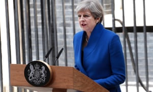 Theresa May addresses the media in Downing Street on 9 June 2017, in the wake of the Conservatives losing their parliamentary majority.