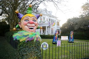 Decorations for Mardi Gras in New Orleans, Louisiana