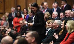 Lisa Nandy stands up in the House of Commons earlier this week