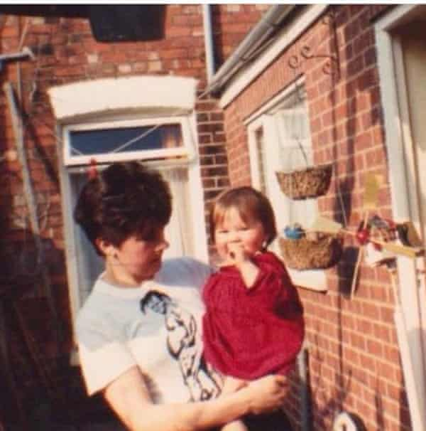 Rebecca Nicholson and her mother in the 1980s