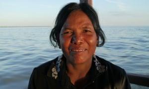 Vey Kuang, 54, on Tonlé Sap lake