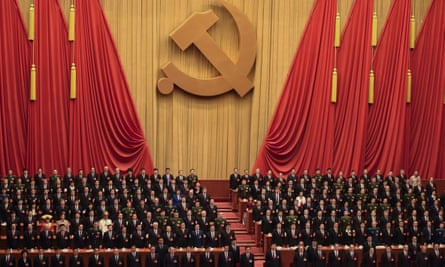 The 19th Communist Party Congress at the Great Hall of the People in Beijing where Xi Jinping's name was added to the constitution.
