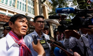 Uon Chhin and Yeang Sothearin, former journalists from the US-funded Radio Free Asia (RFA), who have been charged with espionage.