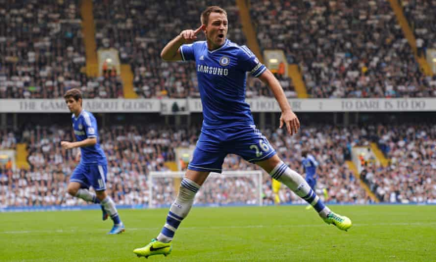 John Terry in action for Chelsea against Spurs.