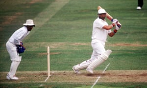 Graham Gooch, pictured batting against India in 1990