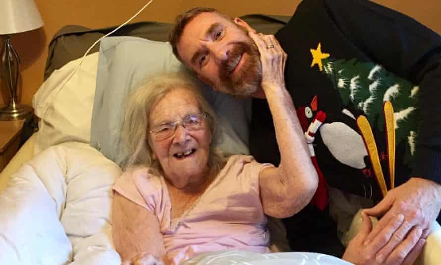 Hilda Churchill with grandson