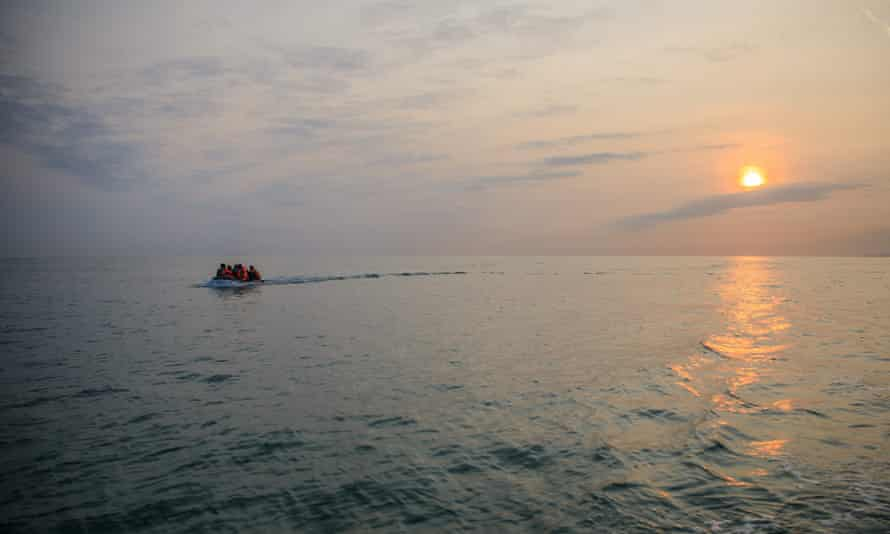 Migrants crossing the Channel, September 2020.