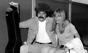 Peter Sarstedt with his then partner, Anita Atke, in 1969