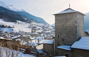 View over the historic Bormio.