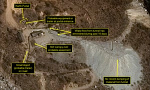 A satellite image from 13 April 2017 shows North Korea's Punggye-ri nuclear test site