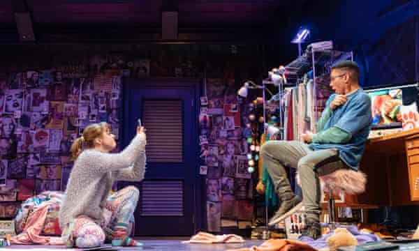 Maisie Williams as Caroline and Zach Wyatt as Anthony in I and You at Hampstead theatre.