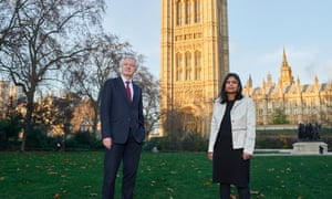 MP's David Davis and Rupa Huq photographed in the Victoria Tower Gardens South, near Parliament. Both have urged the government to act on emerging evidence of link between Covid and vitamin D.