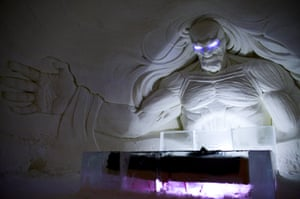 A Game of Thrones-themed ice hotel in Kittilä, Finnish Lapland