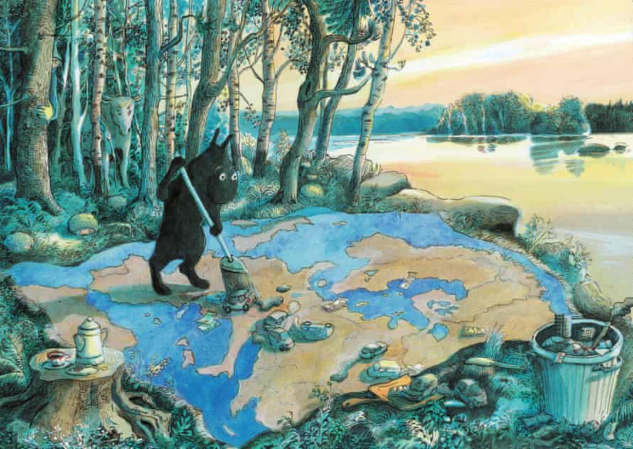 Killiok prend soin de l'Europe, by Anne Brouillard.
