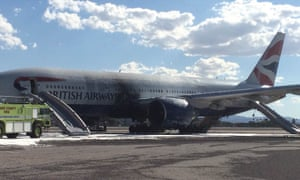 British Airways flight BA2276 on the tarmac at Las Vegas airport.