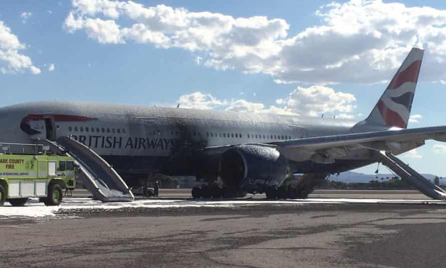 British Airways flight BA2276 on the tarmac at Las Vegas airport.