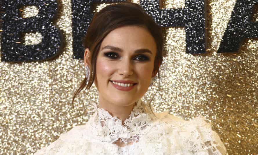 Keira Knightley at the world premiere of Misbehaviour in London, in March 2020.