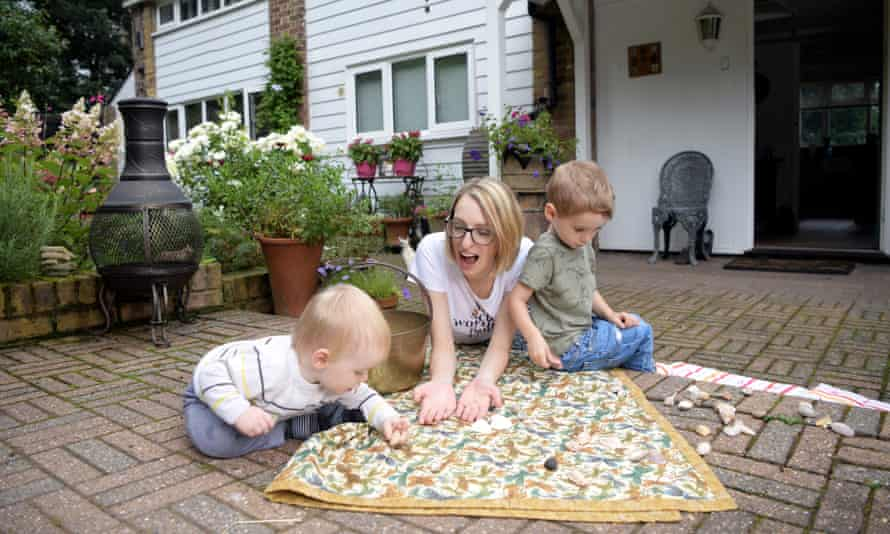 Sophie Cole and her two children