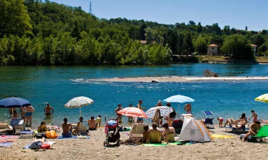 The Ticino near Oleggio, about 15 miles south of Lake Maggiore.