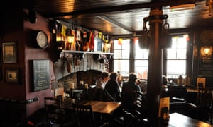 interior of Prospect of Whitby pub,