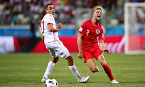 England's Jordan Henderson had more touches and made more passes than any other player against Tunisia.