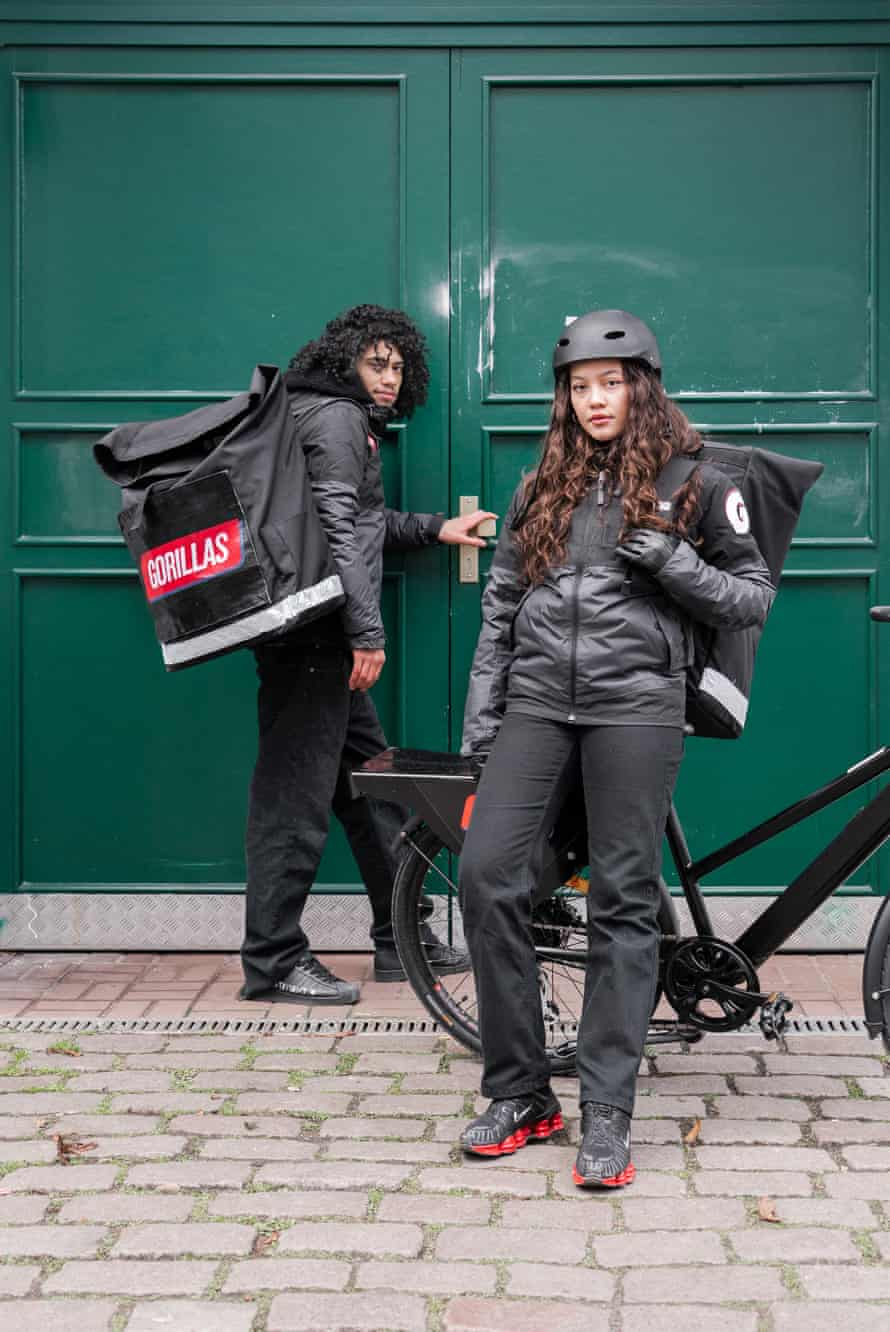 Gorillas - the on demand grocery delivery service.