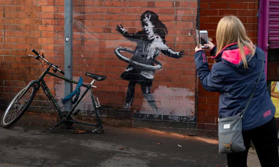 The Banksy appeared on the side of a building in Rothesay Avenue in October last year