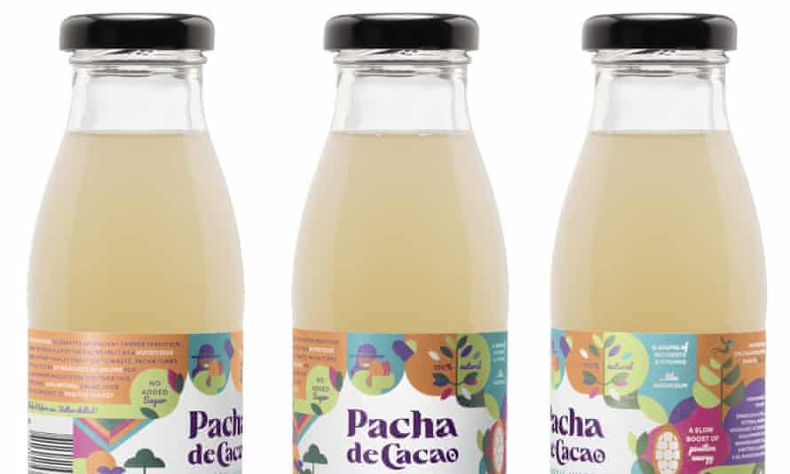 Well cool: Pacha de Cacao juice, made from cocoa beans.