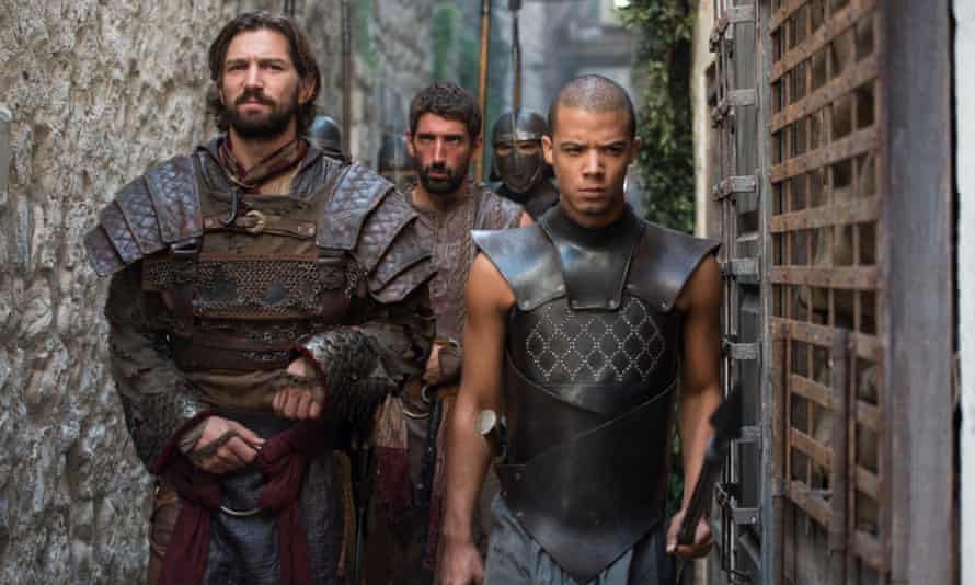 Raleigh Ritchie as Grey Worm in Game of Thrones.