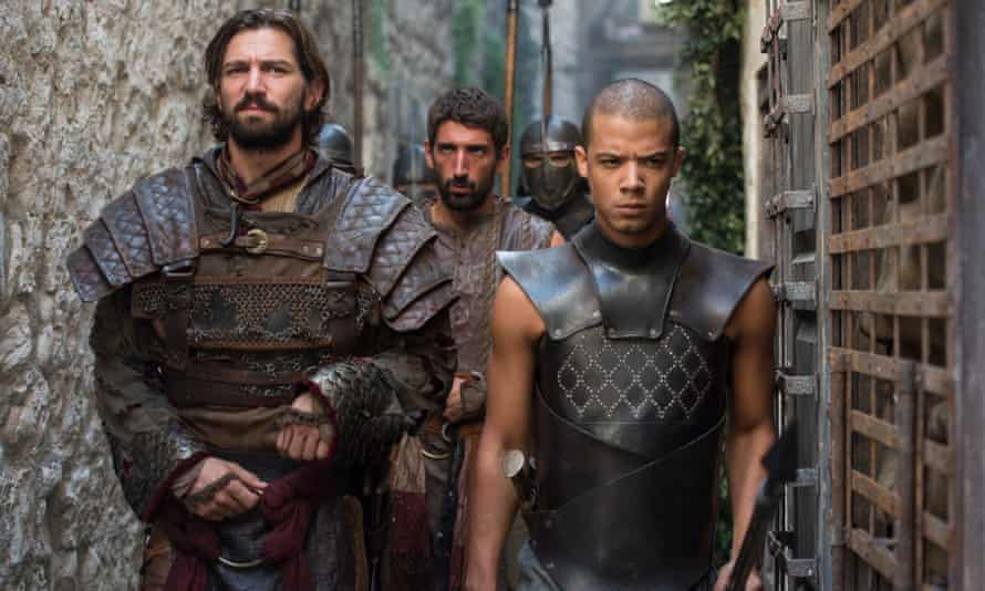 Raleigh Ritchie (AKA Jacob Anderson) as Grey Worm in Game of Thrones.